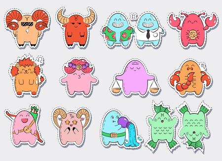 Horoscope icons. Ilustração
