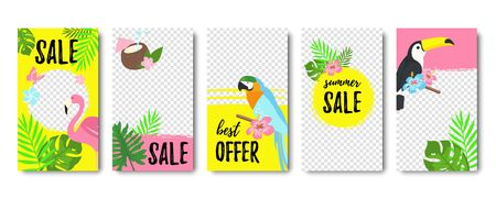 Frames for stories. Abstract vector illustration. Sale can be used for, website, poster, flyer, coupon, mobile app, gift card, smartphone template, web design