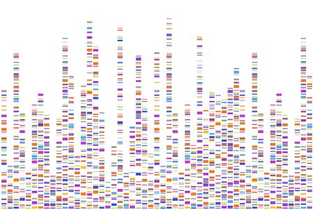 Dna test infographic. Vector illustration. Genome sequence map. Template for your design.