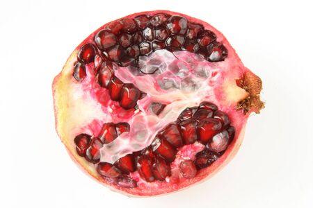 pommegranates: half of pomegranat from the top Stock Photo