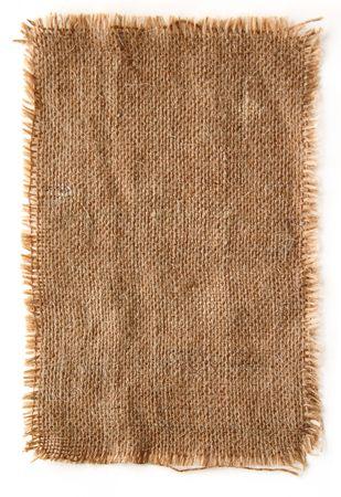 old macro: Muy detallada hi res foto de un lienzo de yute con lacerate borde, de fondos, texturas y capas.  Foto de archivo