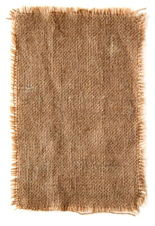 very detailed hi res photo of a burlap canvas with lacerate edge, for backgrounds, textures and layers.