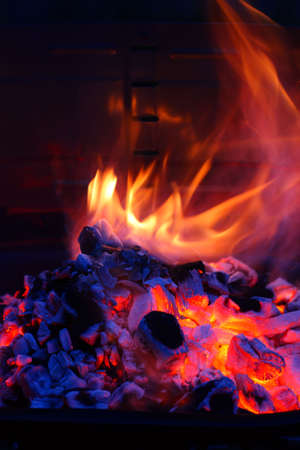 Barbecue Grill flame BBQ Stock Photo - 2869776