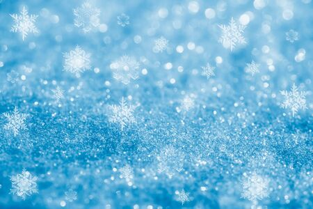 blue flame: blue glitter sparkles snow flakes background , super macro shot, shallow DOF