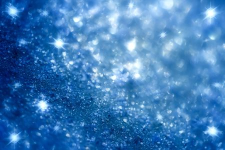 dark blue star and glitter sparkles background , super macro shot, shallow DOF