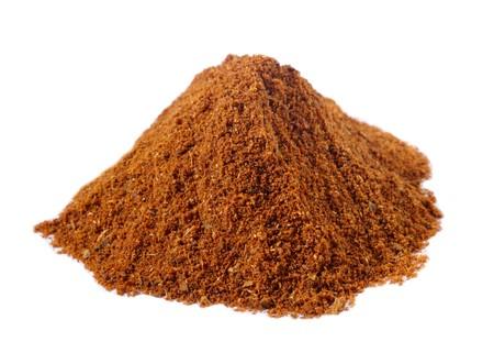 masala: spices - pile of Tikka masala over white