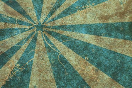 aged paper with abstract blue starburst and floral pattern, super large size