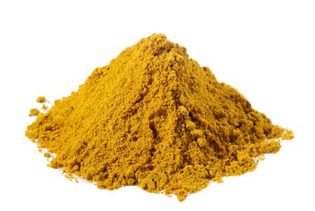 mild: spices - pile of Mild madras curry over white