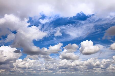 stratus: huge cloudscape with different clouds from horizon