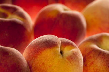 peaches background, full frame, shallow DOF