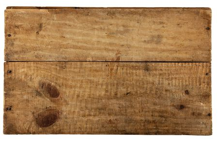 the really old wooden board, from old box, isolated on white photo