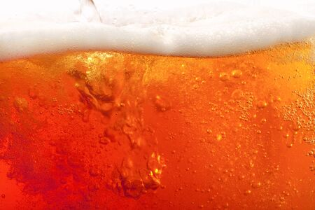 beer background: pouring beer. super large background Stock Photo