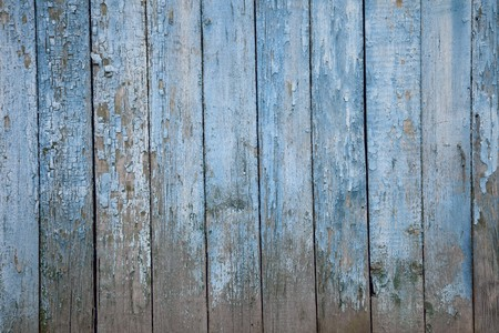 surface aged: very old painted wooden fence, naturally weathered Stock Photo