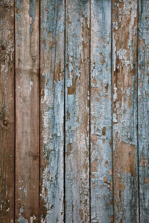 aged painted wooden fence, naturally weathered photo