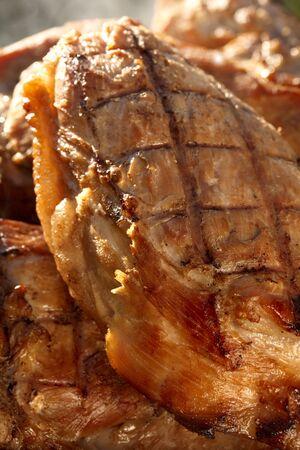 marinated: smoked marinated pork meat, homemade