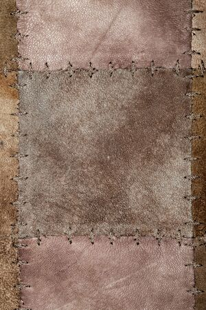 hides: High resolution stiched suede leather texture Stock Photo