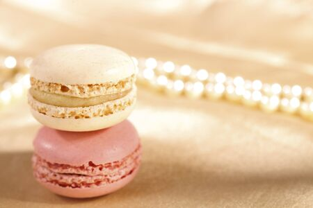 festive macaroons, colorful, shiny glitter backdrop, shaloow dof Stock Photo - 9047339