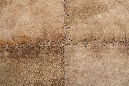 High resolution stiched suede leather texture Stock Photo