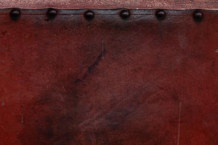 oude verweerde lederen geplakt