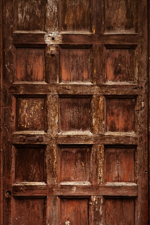 old ornamental  wooden carved door Stock Photo