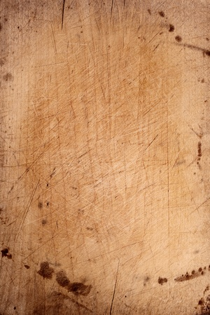old chopping board wooden backdrop Stock Photo