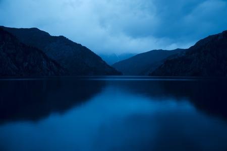 Sary Chelek lake in Kyrgyzstan, Night scene, long exposure Stock Photo - 11304758