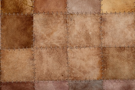 High resolution stiched natural suede leather texture photo