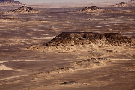 vulcanology: Black Desert in Sahara, western Egypt