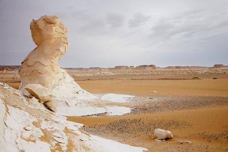 limestone: The limestone formation rocks in the White Desert, Egypt Stock Photo