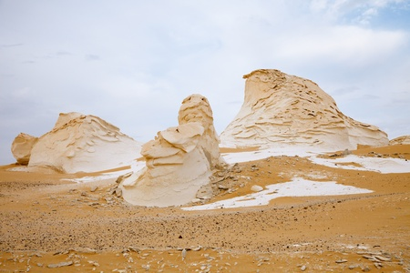 The limestone formation rocks in the Western White Desert, Egypt photo
