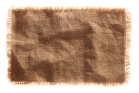 lacerate: very detailed hi res photo of a burlap canvas isolated with lacerate edge, for backgrounds, textures and layers.