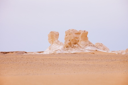 The limestone formation rocks in the White Desert, Egypt Stock Photo - 13743360