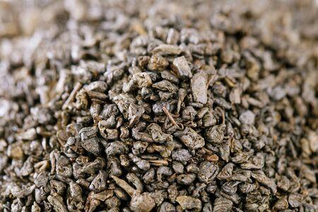 gunpowder tea: gunpowder green tea, moroccan, shallow dof