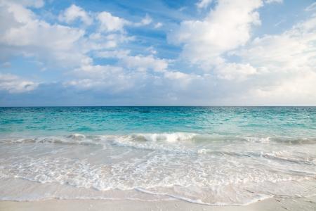 sea and tropical sky in Caribbean beach on sunrise