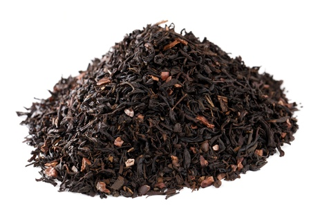 mate infusion: coffee-like mate tea infused with chocolate, pile over white