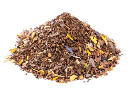 coffee-like, caffeine-infused mate and red rooibos blend, pile over white photo