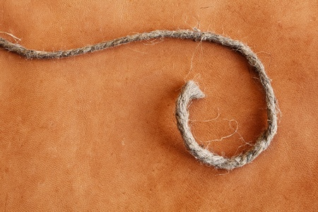 old weathered leather  background with string stock photo image Stock Photo - 14772214