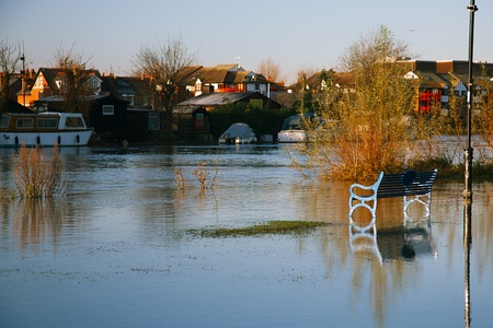 flood in UK, river Thames in Reading Stock Photo - 17229650
