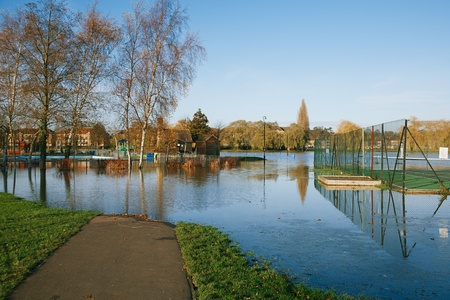 flood in UK, river Thames in Reading Stock Photo - 17229664