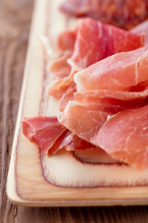 Platter of serrano jamon Cured Meat photo