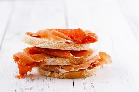 starter: serrano jamon Cured Meat and ciabatta