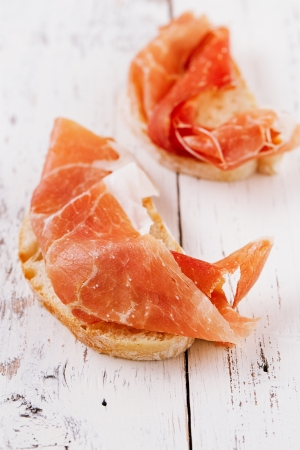 serrano jamon Cured Meat and ciabatta Stock Photo - 20555870