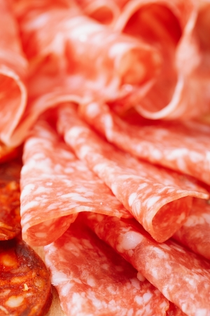 cured ham: Platter of serrano jamon Cured Meat