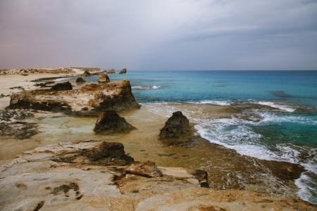 marsa: Cleopatras beach lagoon near  Marsa Matruh, egypt Stock Photo