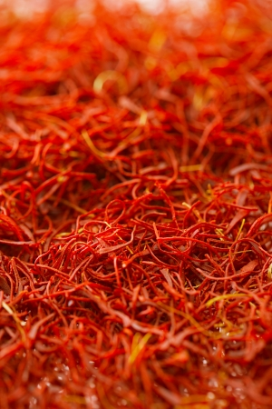treads: moroccan saffron treads background, shallow dof Stock Photo