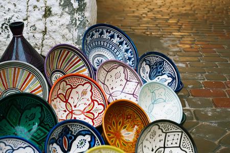 art and craft: moroccan souk crafts souvenirs in medina, Essaouira, Morocco