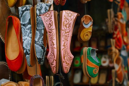 medina: moroccan souk crafts souvenirs in medina, Essaouira, Morocco