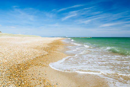 hengistbury: Bournemouth beach and cliffs, North sea, UK