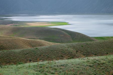 kirgizia: Toktogul  highland mountain lake in Kyrgyzstan, Jalal-Abad Province