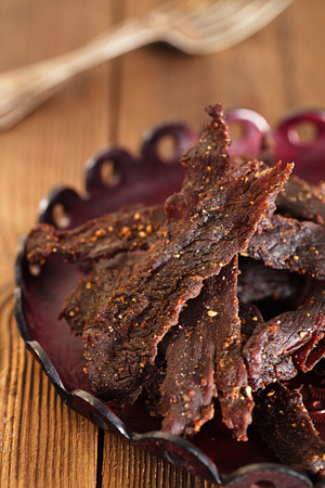spiced: jerky beef - homemade dry cured spiced meat